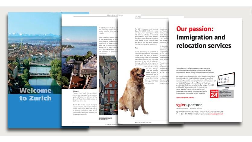 Welcome to Zurich Guide is a brochure for ex-pats